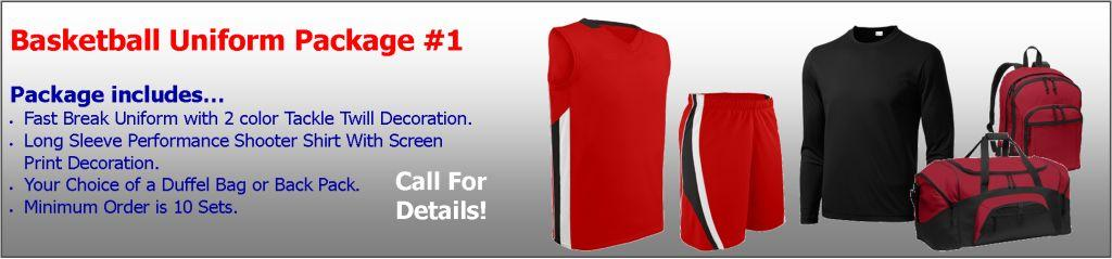 Basketball Uniforms Package