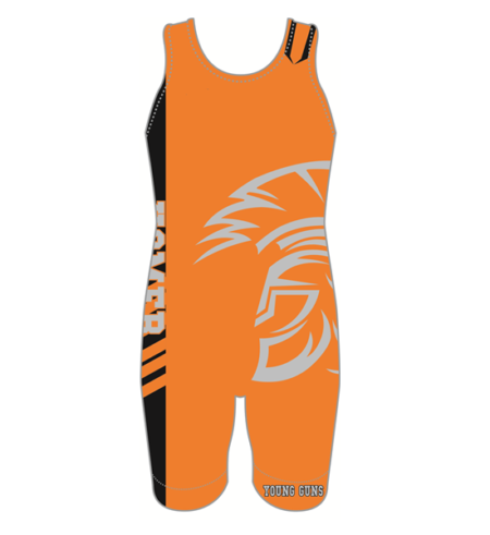 DYE SUBLIMATED WRESTLING SINGLET